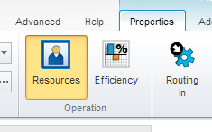 SIMUL8 resources button