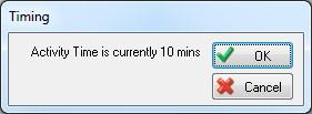 Menu showing activity time