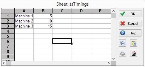 SIMUL8 spreadsheet