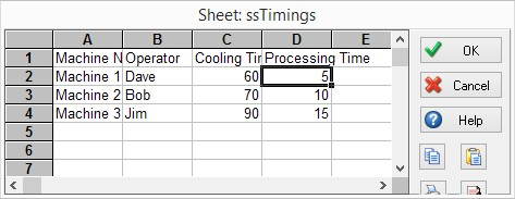 ssTimings Spreadsheet