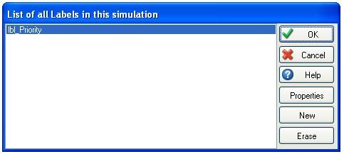 dialogue box showing labels